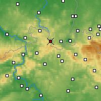 Nearby Forecast Locations - Varnsdorf - mapa