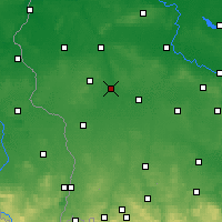 Nearby Forecast Locations - Żagań - mapa