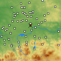 Nearby Forecast Locations - Bieruń - mapa