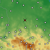 Nearby Forecast Locations - Bolesławiec - mapa