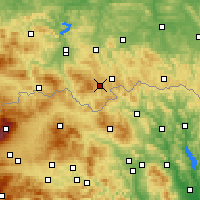 Nearby Forecast Locations - Krynica-Zdrój - mapa