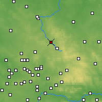 Nearby Forecast Locations - Myszków - mapa
