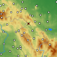 Nearby Forecast Locations - Nowa Ruda - mapa