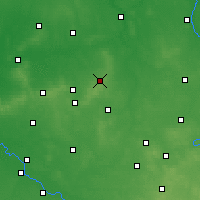 Nearby Forecast Locations - Ostrzeszów - mapa