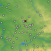 Nearby Forecast Locations - Piekary Śląskie - mapa