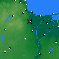 Nearby Forecast Locations - Pruszcz Gdański - mapa
