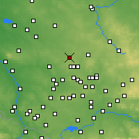 Nearby Forecast Locations - Tarnowskie Góry - mapa