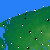 Nearby Forecast Locations - Trzebiatów - mapa