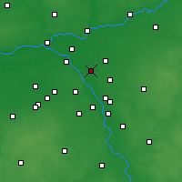 Nearby Forecast Locations - Ząbki - mapa