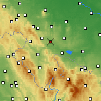 Nearby Forecast Locations - Ząbkowice Śląskie - mapa