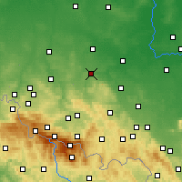 Nearby Forecast Locations - Złotoryja - mapa