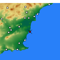 Nearby Forecast Locations - Torrevieja - mapa
