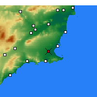 Nearby Forecast Locations - Torre-Pacheco - mapa