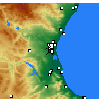Nearby Forecast Locations - Torrent - mapa