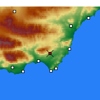 Nearby Forecast Locations - Níjar - mapa
