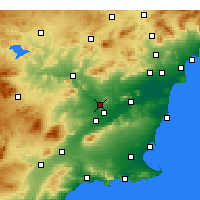 Nearby Forecast Locations - Molina de Segura - mapa