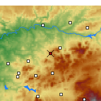 Nearby Forecast Locations - Martos - mapa