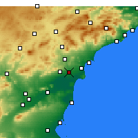 Nearby Forecast Locations - Elx - mapa