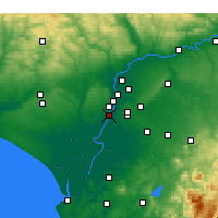 Nearby Forecast Locations - Coria del Río - mapa