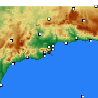 Nearby Forecast Locations - Benalmádena - mapa