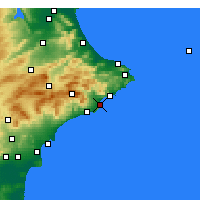 Nearby Forecast Locations - Altea - mapa