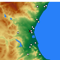Nearby Forecast Locations - Aldaia - mapa