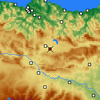 Nearby Forecast Locations - Vitoria - mapa