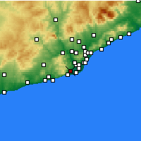 Nearby Forecast Locations - Viladecans - mapa