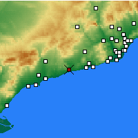 Nearby Forecast Locations - El Vendrell - mapa