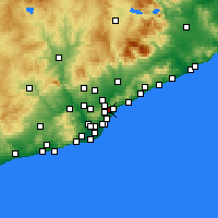 Nearby Forecast Locations - Santa Coloma de Gramenet - mapa