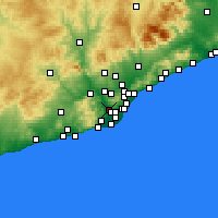 Nearby Forecast Locations - Sant Feliu de Llobregat - mapa