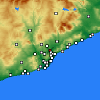 Nearby Forecast Locations - Ripollet - mapa
