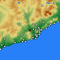 Nearby Forecast Locations - Martorell - mapa