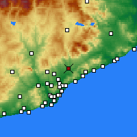 Nearby Forecast Locations - Granollers - mapa