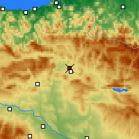 Nearby Forecast Locations - Barañain - mapa