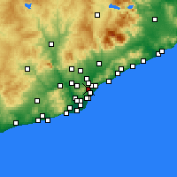 Nearby Forecast Locations - Nou Barris - mapa