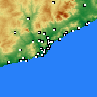Nearby Forecast Locations - Ciutat Vella - mapa