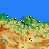 Nearby Forecast Locations - Santutxu - mapa