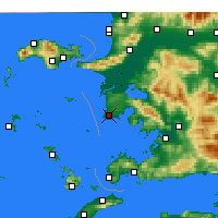 Nearby Forecast Locations - Didim - mapa