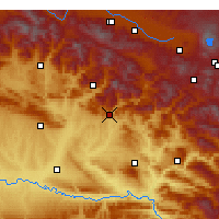 Nearby Forecast Locations - Kozluk - mapa
