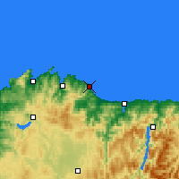Nearby Forecast Locations - Burela - mapa