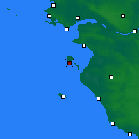 Nearby Forecast Locations - Île de Noirmoutier - mapa