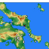 Nearby Forecast Locations - Aliweri - mapa