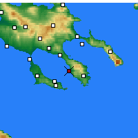 Nearby Forecast Locations - Neos Marmaras - mapa