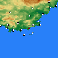 Nearby Forecast Locations - Le Lavandou - mapa