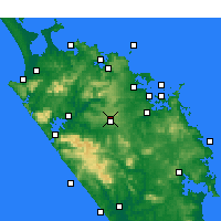 Nearby Forecast Locations - Kaikohe - mapa