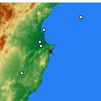 Nearby Forecast Locations - Ocean Beach - mapa