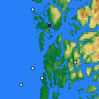 Nearby Forecast Locations - Leirvik - mapa