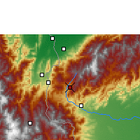 Nearby Forecast Locations - San Cristóbal - mapa