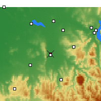 Nearby Forecast Locations - Wangaratta - mapa